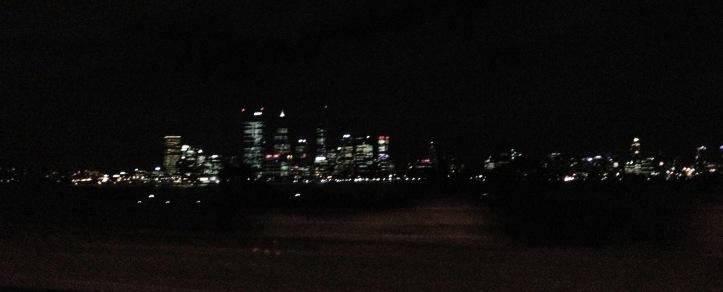 city lights bw